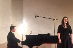 In concert with Yi-An Xu, pianist, Tel Aviv, 2015 (N. Shell)